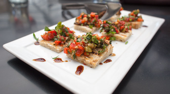 crostinis made with house-made bread.
